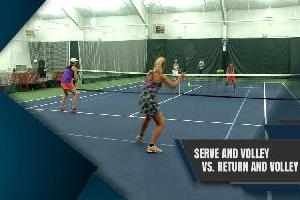 Serve & Volley Vs. Return & Volley Drill and Game