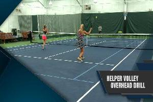 The Helper Volley Overhead Drill
